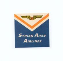 Airline luggage label SYRIA ARAB Airlines  #161